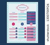 modern restaurant menu design... | Shutterstock .eps vector #1300700926