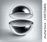 vector chrome hollow sphere ... | Shutterstock .eps vector #1300706800