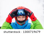 Portrait Of Cute Happy Skier...