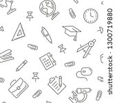 seamless pattern with school.... | Shutterstock .eps vector #1300719880