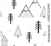 cute hand drawn seamless...   Shutterstock .eps vector #1300721590