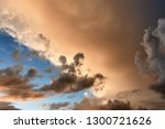 beautiful and dramatic cloudy... | Shutterstock . vector #1300721626