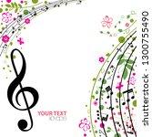 music. spring bright musical... | Shutterstock .eps vector #1300755490