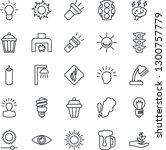 thin line icon set   sun vector ... | Shutterstock .eps vector #1300757779