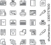 thin line icon set   contract... | Shutterstock .eps vector #1300757830