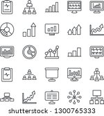 thin line icon set   growth... | Shutterstock .eps vector #1300765333