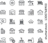 thin line icon set   shop... | Shutterstock .eps vector #1300768903