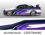 racing car decal wrap vector... | Shutterstock .eps vector #1300784680