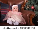 cute little girl five months in ... | Shutterstock . vector #1300804150