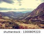 beautiful carpathian mountains... | Shutterstock . vector #1300809223