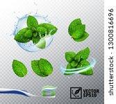 3d realistic vector set ... | Shutterstock .eps vector #1300816696