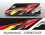 car decal van designs . wrap... | Shutterstock .eps vector #1300817629