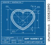 heart sign as technical... | Shutterstock .eps vector #1300820890