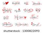 hand drawn emphasis elements ... | Shutterstock .eps vector #1300822093