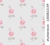 cute seamless pattern with pink ... | Shutterstock .eps vector #1300822159