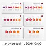 set of infographic timeline... | Shutterstock .eps vector #1300840000