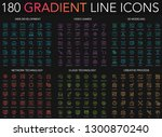 180 trendy gradient style thin... | Shutterstock .eps vector #1300870240