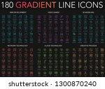 180 trendy gradient style thin... | Shutterstock .eps vector #1300870240