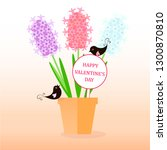 happy valentine's day banner.... | Shutterstock .eps vector #1300870810