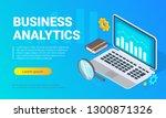 vector isometric banner design. ... | Shutterstock .eps vector #1300871326