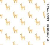 lama pattern on a white... | Shutterstock .eps vector #1300879696