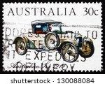 australia   circa 1984  a stamp ... | Shutterstock . vector #130088084