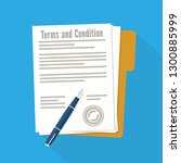 terms and condition of document ... | Shutterstock .eps vector #1300885999