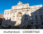the trevi fountain is a... | Shutterstock . vector #1300887460