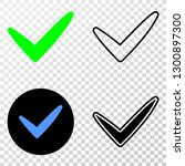 yes tick eps vector icon with...