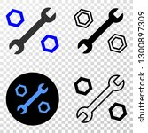 wrench and nuts eps vector... | Shutterstock .eps vector #1300897309