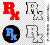 rx symbol eps vector icon with... | Shutterstock .eps vector #1300898380