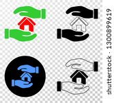 hands care home eps vector... | Shutterstock .eps vector #1300899619