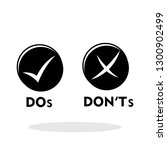 do's   dont's icon in flat...