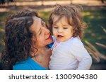 happy mother and daughter in...   Shutterstock . vector #1300904380