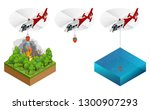 isometric helicopter dropping... | Shutterstock .eps vector #1300907293