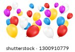 balloons isolated. color...   Shutterstock .eps vector #1300910779