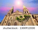 guadalajara cathedral ...   Shutterstock . vector #1300912030