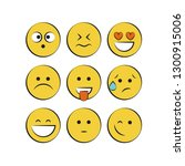 smile icons. emoji. emoticons | Shutterstock .eps vector #1300915006