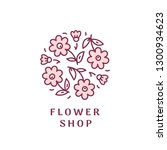 logo for flower shop. vector... | Shutterstock .eps vector #1300934623