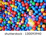 little smiling boy playing... | Shutterstock . vector #130093940