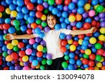 little smiling boy playing... | Shutterstock . vector #130094078