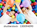 happy children playing together ... | Shutterstock . vector #130094090