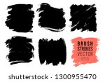 vector set of big hand drawn... | Shutterstock .eps vector #1300955470