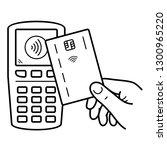hand holding secured debit...   Shutterstock .eps vector #1300965220