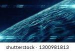 title matrix background network ...   Shutterstock . vector #1300981813