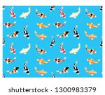 set of koi fish. cartoon vector ... | Shutterstock .eps vector #1300983379
