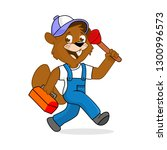 drain cleaning service   Shutterstock . vector #1300996573