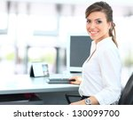 modern business woman in the... | Shutterstock . vector #130099700