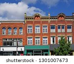 facades of preserved 19th... | Shutterstock . vector #1301007673