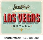 vintage touristic greeting card ... | Shutterstock .eps vector #130101200
